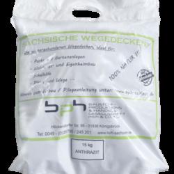 Sächsische Wegedecken Anthrazit im 15kg Sack