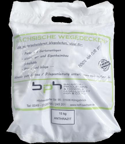 Sächsische Wegedecken Anthrazit Sack 15kg