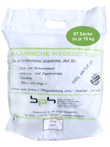 Sächsische Wegedecken Rot 15kg 67 Säcke