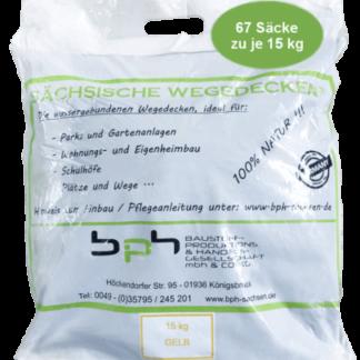 Sächsische Wegedecken Gelb 1000 kg (15kg x 67 Säcke)
